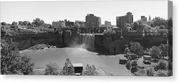High Falls In Rochester New York Canvas Print by Matthew Green