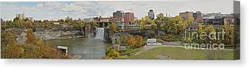 Canvas Print featuring the photograph High Falls Panorama by William Norton