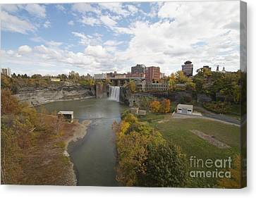 Canvas Print featuring the photograph High Falls by William Norton