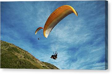 Canvas Print featuring the photograph High Flyers by Lorraine Devon Wilke