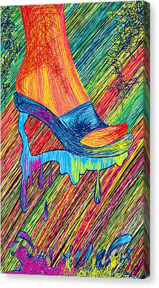 High Heels Abstraction Canvas Print by Kenal Louis