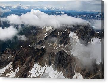 High In The Alaska Range Canvas Print by George Hawkins