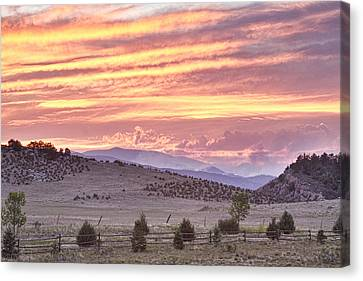 High Park Fire Canvas Print - High Park Fire Larimer County Colorado At Sunset by James BO  Insogna