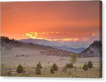 Fort Collins Canvas Print - High Park Wildfire At Sunset by James BO  Insogna