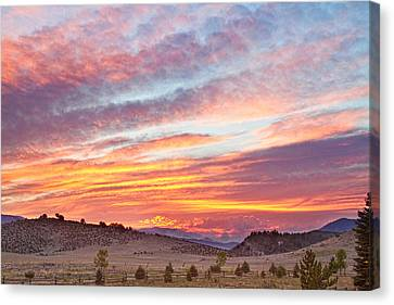 Fort Collins Canvas Print - High Park Wildfire Sunset Sky by James BO  Insogna