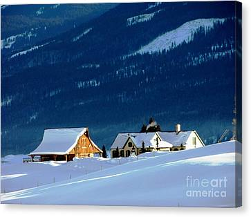 High Plains Drifters    Gunnison Canvas Print by Don F  Bradford
