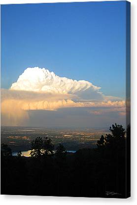 High Plains Thunder Canvas Print by Ric Soulen