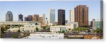 High Rise Buildings Of Downtown Phoenix Canvas Print by Jeremy Woodhouse