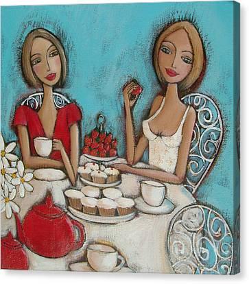 High Tea Canvas Print by Denise Daffara