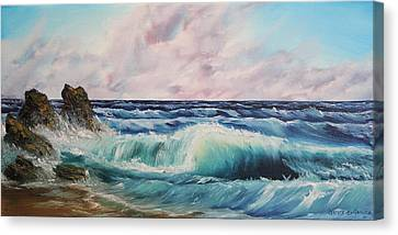 Canvas Print featuring the painting High Tide by Christie Minalga