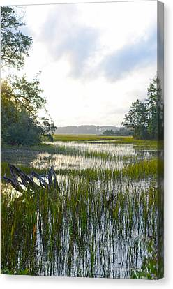 Canvas Print featuring the photograph High Tide by Margaret Palmer