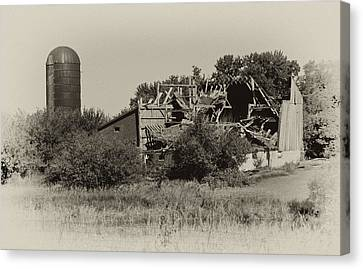 High Winds Old Barn Not Good Canvas Print by Wilma  Birdwell