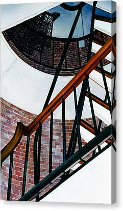 Highland Light Interior Canvas Print by Karol Wyckoff