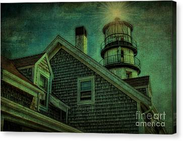 Canvas Print featuring the photograph Highland Lighthouse by Gina Cormier