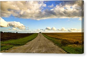 Highway D New Melle Mo 3 Canvas Print by Bill Tiepelman