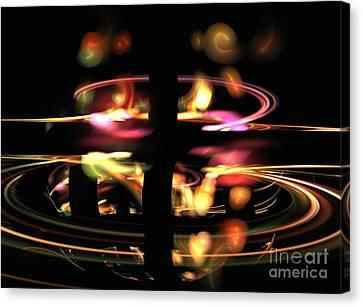 Highway Lights Canvas Print by Kim Sy Ok