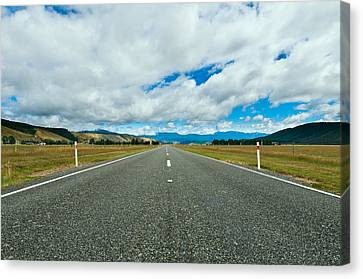 Highway Through The Countryside  Canvas Print by Ulrich Schade