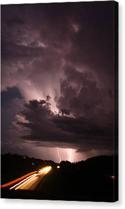 Highway Weather Canvas Print by David Paul Murray