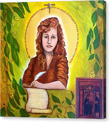 Hildegard Canvas Print by Shirley Cunningham