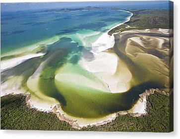 Hill Inlet, Whitsunday Islands, Australia Canvas Print by Peter Adams