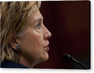 Hillary Clinton Testifies To The Senate Canvas Print