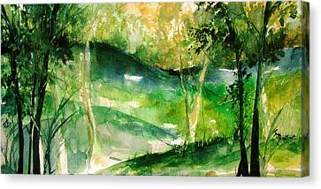 Hills Of Arkansas Canvas Print by Robin Miller-Bookhout