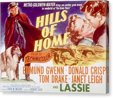 Hills Of Home, Lassie, Edmund Gwenn Canvas Print
