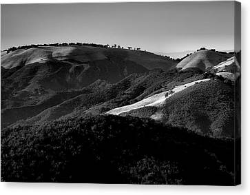 Hills Of Light And Darkness II Canvas Print by Steven Ainsworth