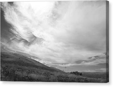 Canvas Print featuring the photograph Hillside Meets Sky by Kathleen Grace
