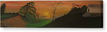 Hillside Canvas Print by Shadrach Ensor