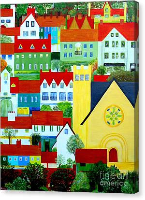 Hillside Village Canvas Print