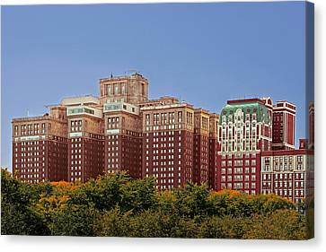 Hilton Chicago And Blackstone Hotel Canvas Print by Christine Till