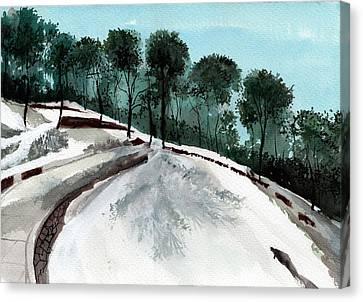 Himalaya 2 Canvas Print by Anil Nene