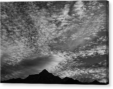 Himalayan Sky In Black And White Canvas Print by Don Schwartz