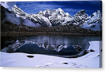 Himalayas Canvas Print by Greg Palmer