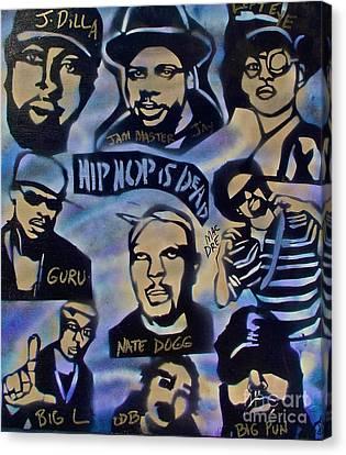 Hip Hop Is Dead #1 Canvas Print by Tony B Conscious