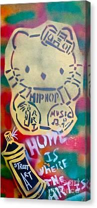 Hip Hop Kitty Canvas Print by Tony B Conscious