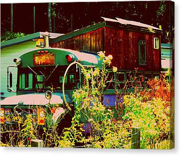 Hippie Camping Canvas Print by Cindy Wright