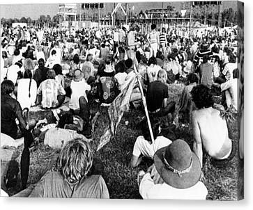 Counter-culture Canvas Print - Hippie Youths At The Celebration by Everett