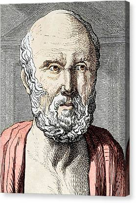 Hippocrates, Ancient Greek Physician Canvas Print by Sheila Terry