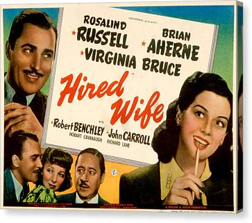 Hired Wife, Brian Aherne, Virginia Canvas Print by Everett