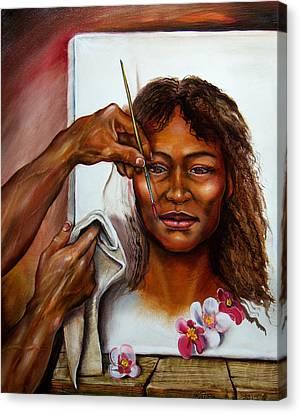 His Dream Girl Canvas Print by Martin Katon
