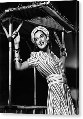 His Girl Friday, Rosalind Russell, 1940 Canvas Print by Everett
