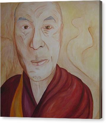 His Holiness The Dalai Lama Canvas Print by Lorraine Toler