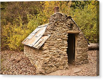 Historic Gold Miners Stone Cottage Canvas Print by Graeme Knox