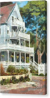 Historic Harbour View Inn B And B Mackinac Island Michigan Canvas Print by Anne Kitzman