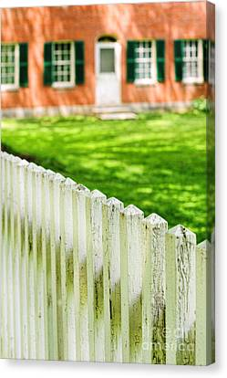 Historic Home Canvas Print by HD Connelly