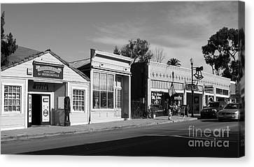 Historic Niles District In California Near Fremont . Main Street . Niles Boulevard . 7d10676  . Bw Canvas Print by Wingsdomain Art and Photography