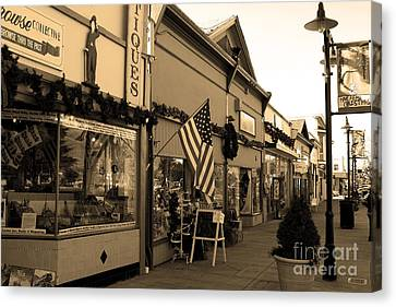 Historic Niles District In California Near Fremont . Main Street . Niles Boulevard . 7d10701 . Sepia Canvas Print by Wingsdomain Art and Photography
