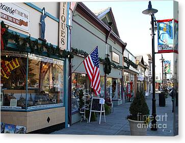 Historic Niles District In California Near Fremont . Main Street . Niles Boulevard . 7d10701 Canvas Print by Wingsdomain Art and Photography